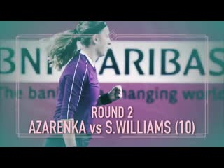 It was tough to choose just one - - amazing stuff, @serenawilliams and @vika7. - - bnppo19