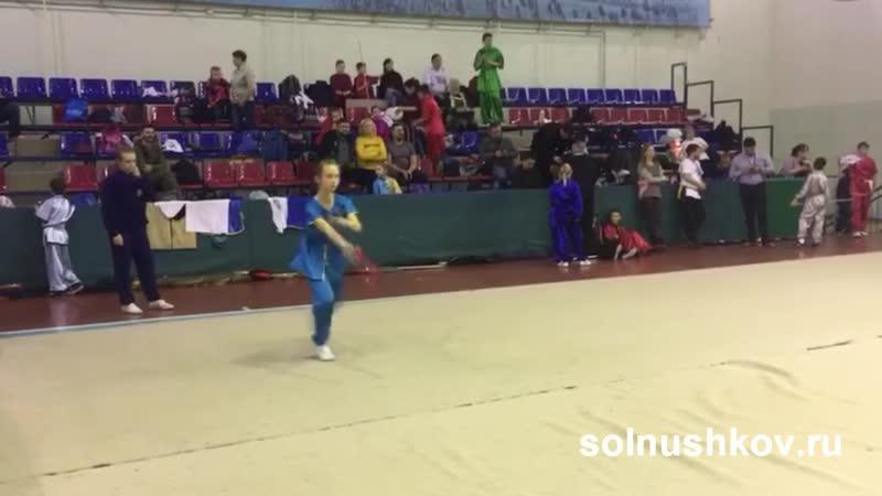 Злата Ушкова - Международный Чемпионат по Кунг Фу - три стиля - Веер, Луны - Журавль