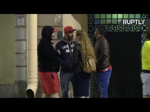В шаге от плей-офф: болельщики празднуют победу России над Египтом в центре Санкт-Петербурга