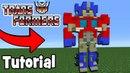 Minecraft Tutorial: How To Make Optimus Prime In Minecraft Transformers