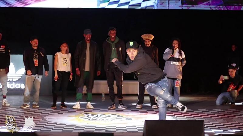 Pura Calle 2018 - Judge Demo - Bboy MOY   Danceproject.info