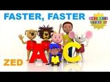 ABCAlphabet song Zed version ABC faster &amp faster New in 3D NurseryTracks