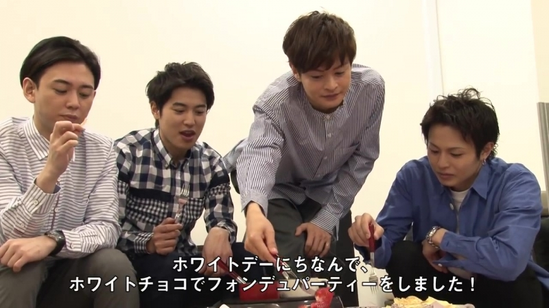 【月刊TVガイド】連載「D☆DATEのレッツトリセツメイキング!」 2018年4月号は『ホワイトチョコフォンデュパーティーを開催!』