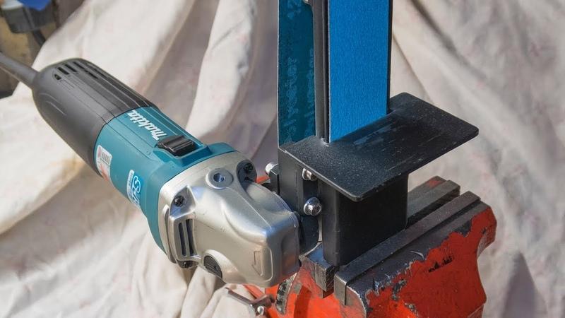 Angle grinder attachment homemade metal grinder belt sander