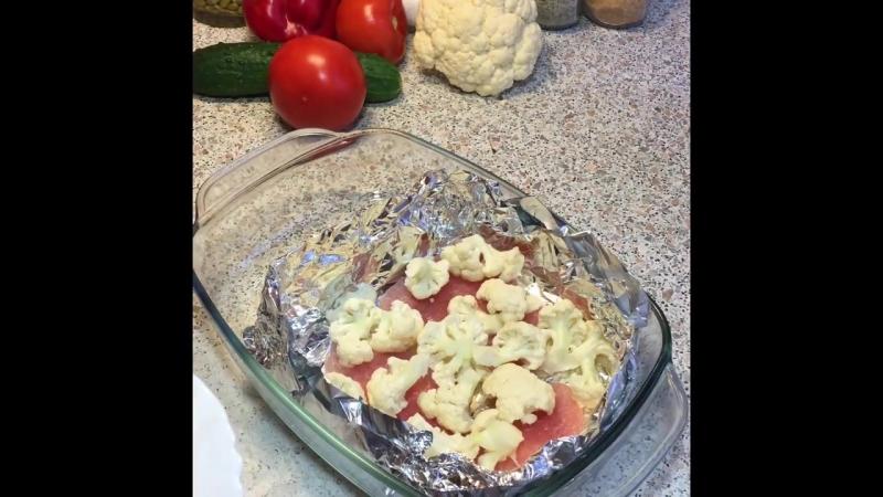 Запеканка из цветной капусты с куриной грудкой — рецепт от Foodman.club