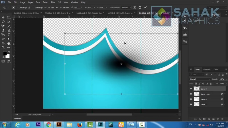 Tri Fold Brochure Design In Photoshop cc tutorial by sahak