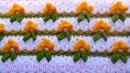 Punto a crochet Estrella combinado con Flores a crochet paso a paso para cojines