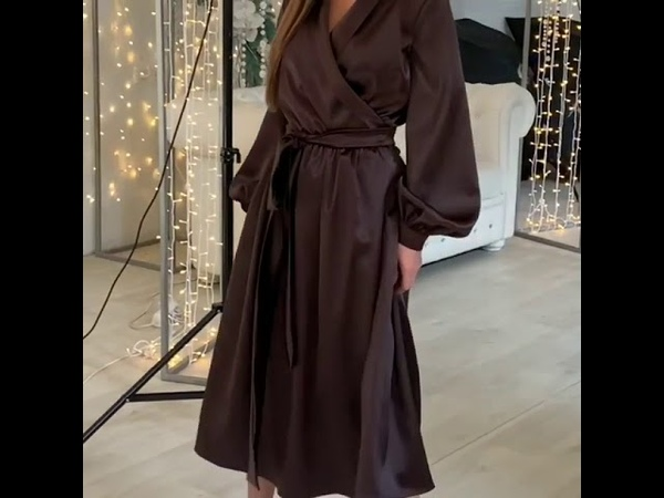 Еще не выбрала платье для праздника? Заглядывай Modnica-shop🙋Только для тебя атласное миди с поясом