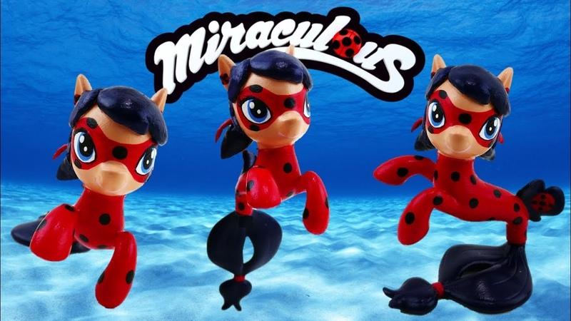 Syren Miraculous Ladybug Mermaid Seapony Custom with My Little Pony Applejack Seapony