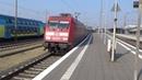 DB 101 043 vertrekt met Duitse IC rijtuigen in Rheine