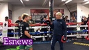Tenshin vs Floyd mayweather on mitts speed and power