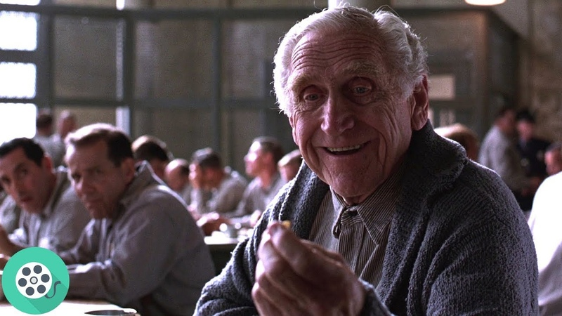 Брукс кормит ворона личинкой. Побег из Шоушенка (1994) год.