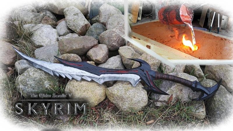 Making The Daedric Sword From The Game Skyrim Aluminum Casting