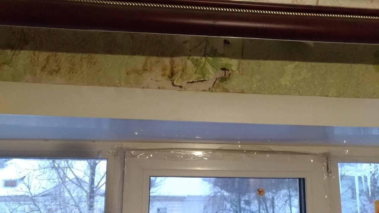 Несмотря на морозы, в одном из домов на Липовой горе — капель с потолка