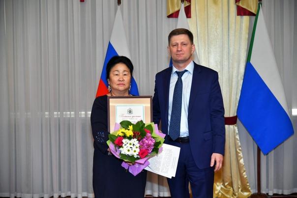 Сегодня губернатор Хабаровского края Сергей Фургал провел торжественный...