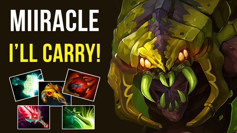 Miracle Shows how to carry team on Venomancer! Mega Comeback Dota 2 Gameplay