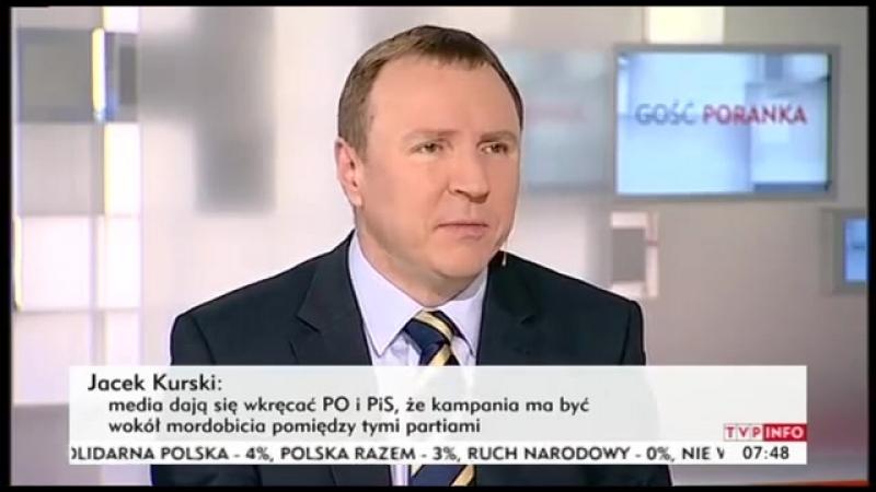 Kaczyński jest psychicznie uzależniony Gosść Poranka TVP Info Jacek Kurski 09042014 trzeba szukać wszelkich możliwości żeby pomó