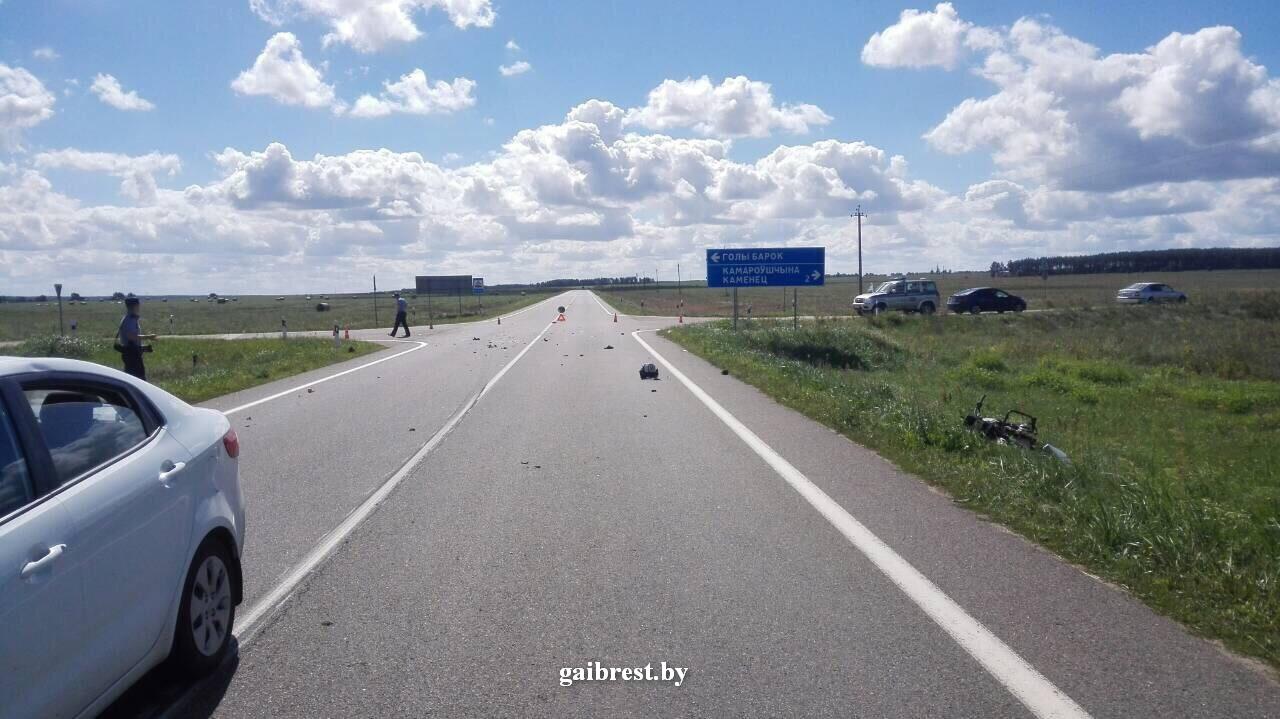 Каменецкий район: серия ДТП с мотоциклистами продолжается