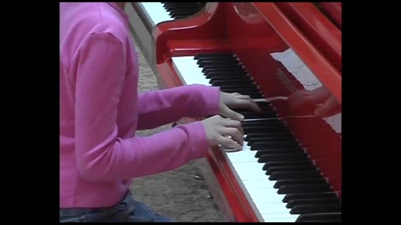 Анна Лемешкина 9 лет Урок репетиция перед концертом для преподавателей города