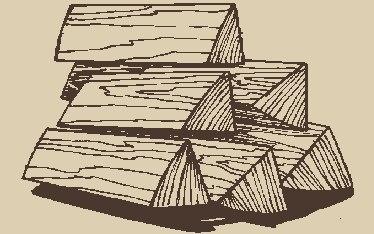 Дрова березовые колотые любой длины: 30, 35, 40, 45, 50 см