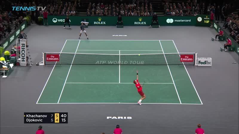 Победа Карена Хачанова в финале ATP Masters в Париже над Н.Джоковичем
