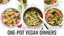 ONE POT VEGAN DINNERS | 3 easy healthy recipes