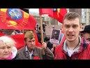 В Перми на 9 мая полицаи жестко вывели людей из толпы со знаменами победы.