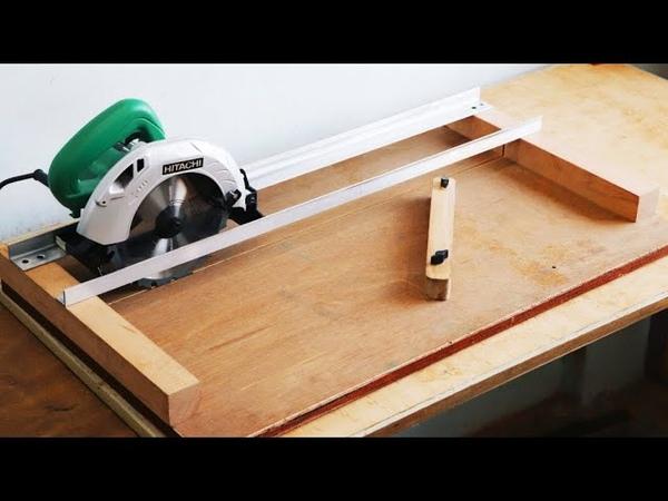 Homemade Circular Saw Crosscut Jig DIY Circular Saw Miter Jig