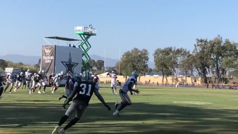 Dak finds Hurns for the TD on the fourth down CowboysCamp Day 14