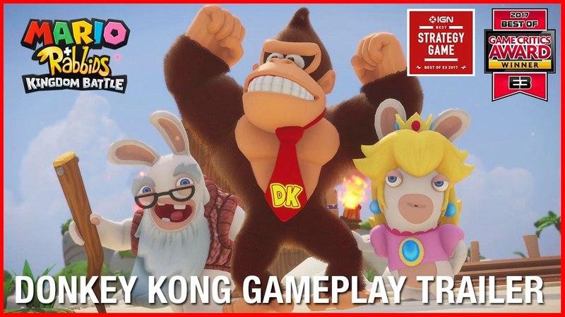 Mario Rabbids Kingdom Battle: Donkey Kong Adventure DLC | Gameplay Trailer | Ubisoft [NA]