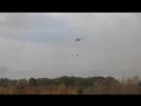 В Медногорске Ми-8 продолжает тушить огонь