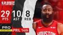 James Harden (29 Pts, 11 Asts) Full Highlights Rockets vs Jazz   G. 1  Apr. 14, 2019   NBA Playoffs