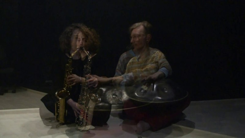 Saxophone and Hang. Viktoria Vear and Mir. Improv.2