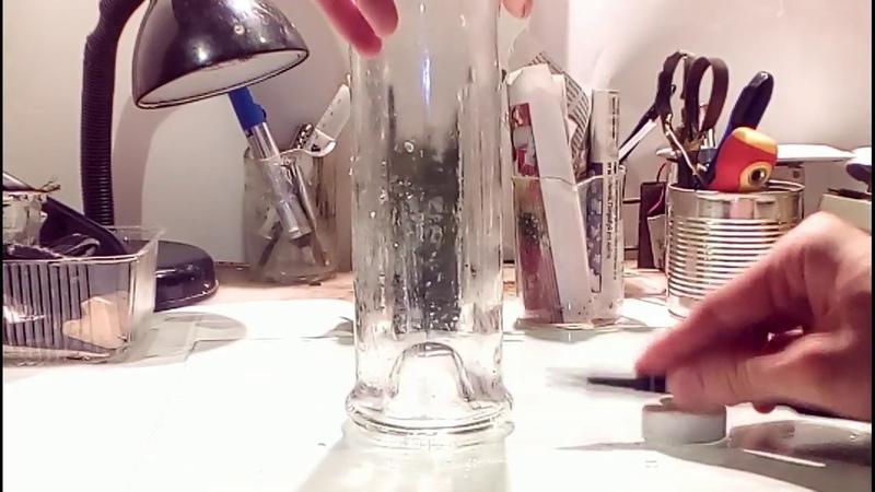 Как резать стекло (бутылки). Супербюджетная воронка-фильтр из подручных средств. За 5 минут.