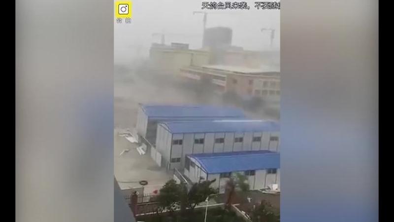 """Почти 600 тысяч человек эвакуировано в Китае из-за тайфуна """"Мария"""""""