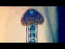 Брошка Медуза Синяя