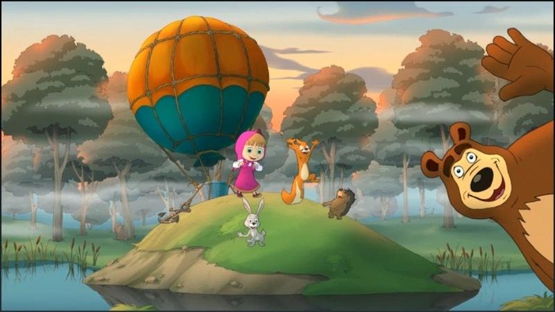 Маша и Медведь Игра Маша Спасает Зайца и Собирает Леденцы