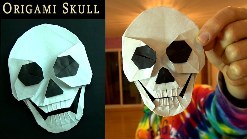 Origami Skull that Talks and Flies!