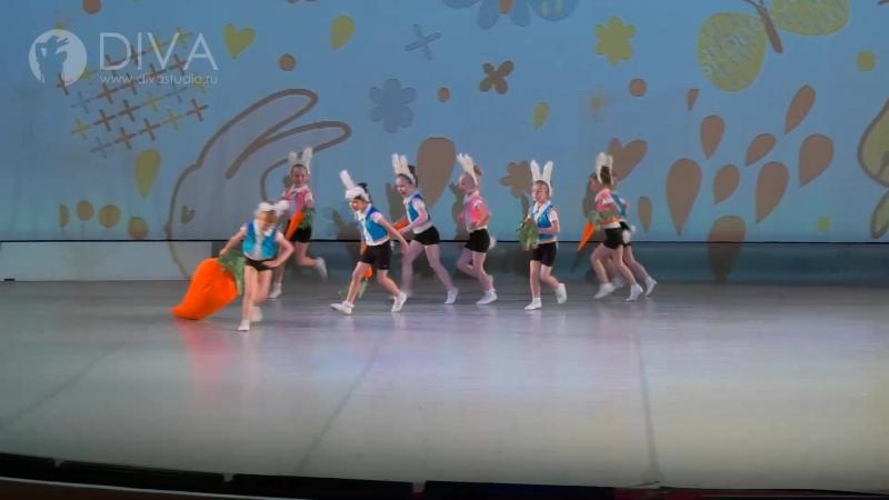 Kids dance (детские танцы), дети 5-6 лет, Ушастый переполох, хореограф Любовь Якшова