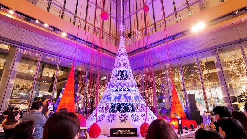 [ 4K Ultra HD ] 東京のクリスマスイルミネーション(丸の内,日比谷,日本橋,汐留,六本2
