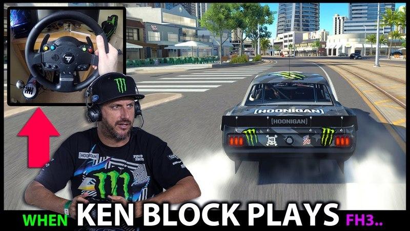 If Ken Block Played Forza Horizon 3! RWD Drifting the Hoonicorn in Gymkhana 10.5! *WHEEL SKILLS