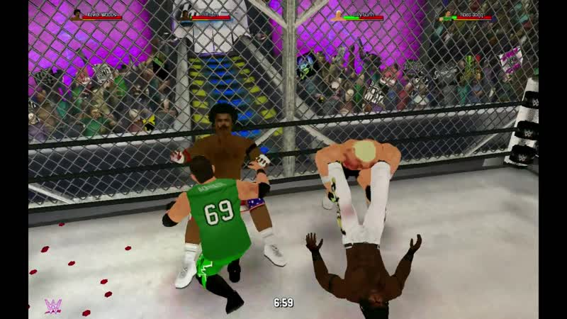 R-Truth и Ксавьер Вудс против Билли Ганна и Дорожного Пса