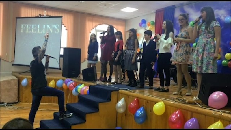 Импровизация от Feelin's Boris Savoldelli в школе №47