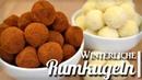 Немецкие ромовые шарики (конфеты трюфеля) Черные и белые с шоколадом, миндалем / Köstliche Rumkugeln Black White ♥ VEGAN ohne Kuchenreste