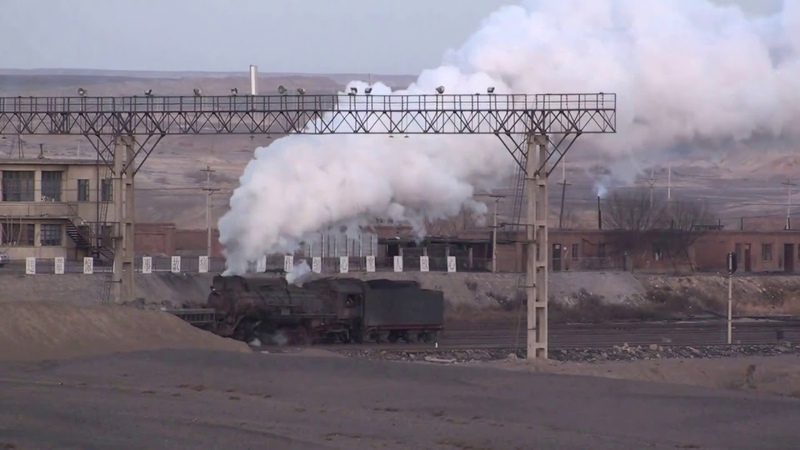 12.40 и далее. Steam of Sandaoling Coal Mine Railway China(Dec.2009) 4 中国・三道嶺炭鉱鉄道の蒸気機関車(2009年12月)4