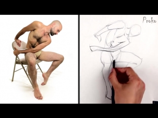 Как изобразить жестикуляцию пошагово / How to Draw Gesture - Step by Step [озвучка kir4ik88]