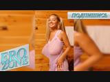 EROZONE - Christina Lucci,Model,Blue sheer top,Dancing,Bounce Mega Boobs,New,Девочка танцует,Сиськи тресутся,Видно соски