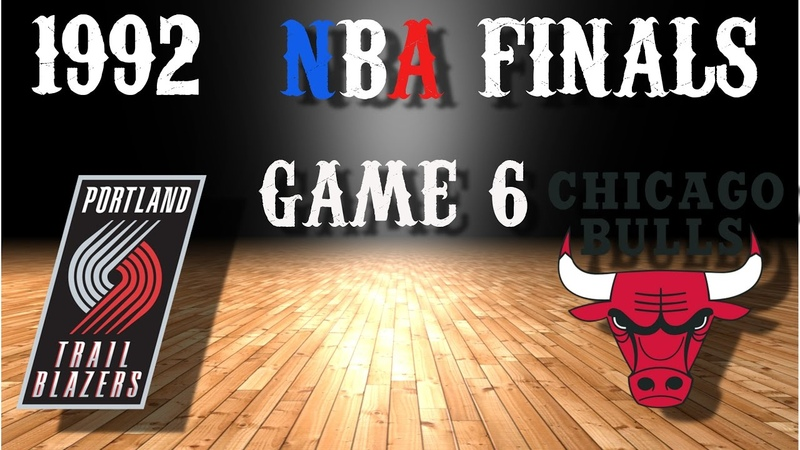 1992 NBA Finals Game 6 Portland Trail Blazers@Chicago Bulls