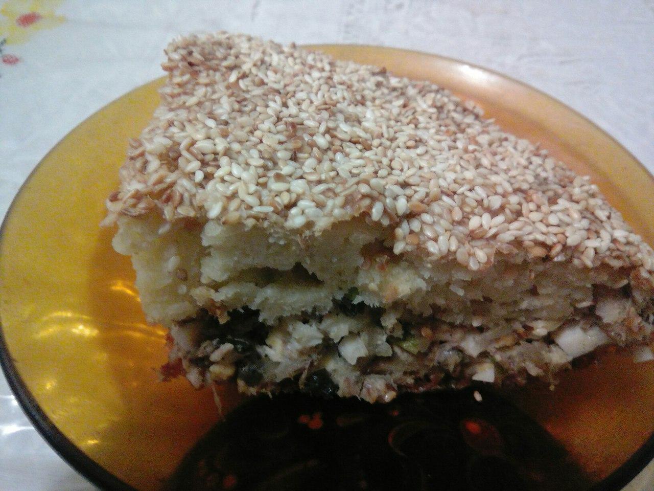 Пирог с рыбными консервами  Wu2MP5UI1m4