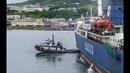 Столкновение морского парома с буксиром в порту